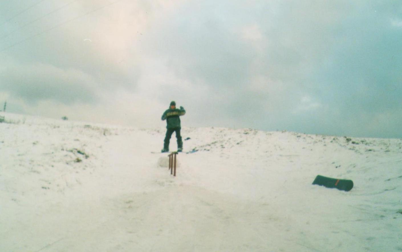 Boardslide na vleku vo Vavrečke - 2004