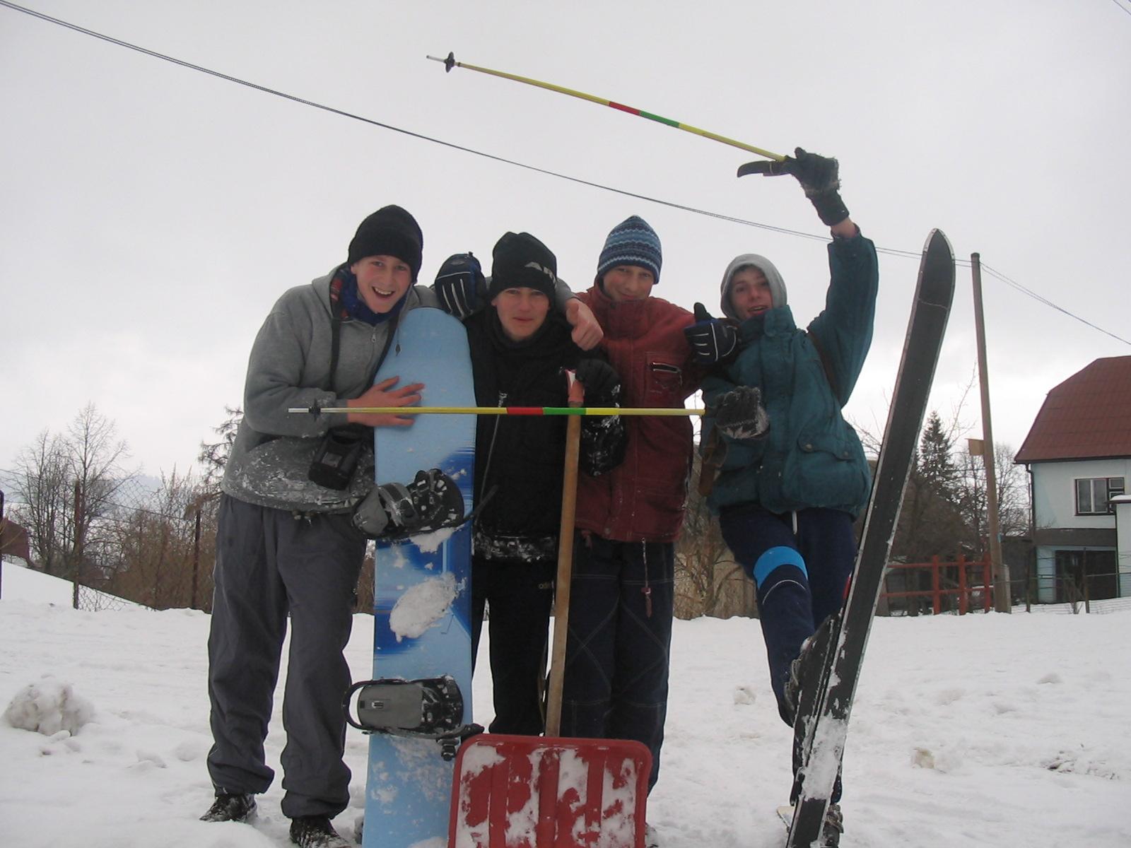Naše snowboardové začiatky na jednej doske - 2004